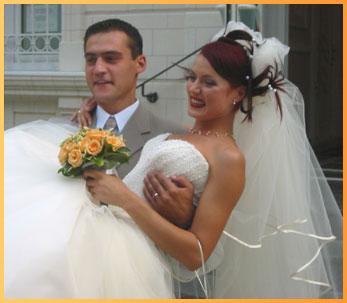 Wedding Album Website: Bride and Groom