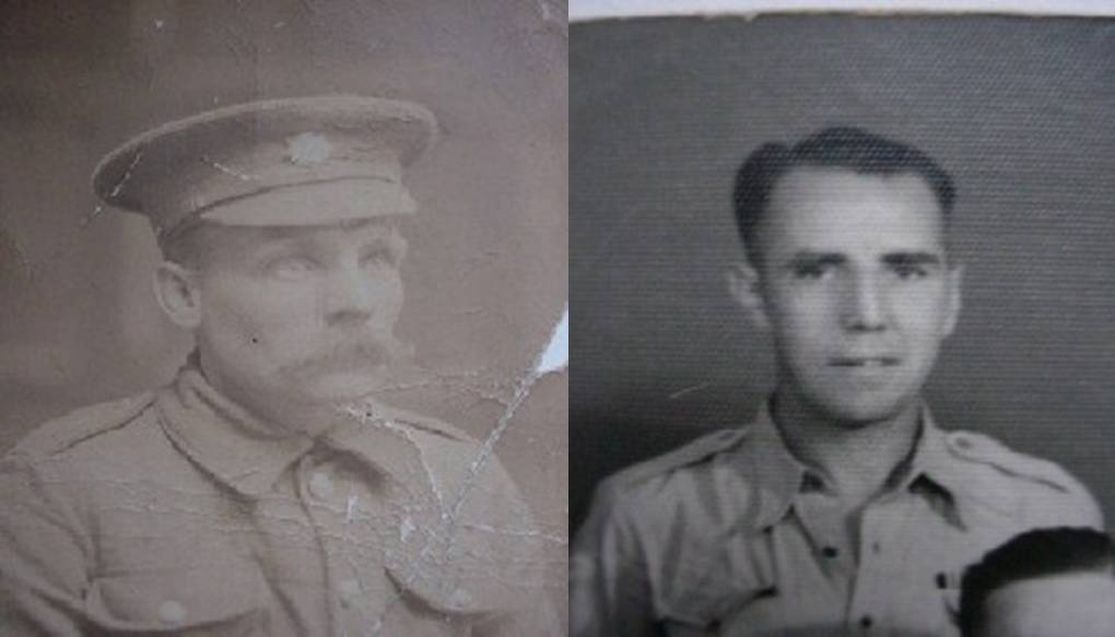 Steve's Great Grandfather Charles Phillips (Left) & Uncle RSM Sid Scannell MM (Right)