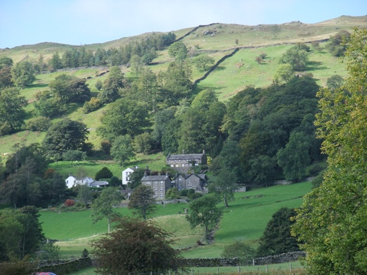 Close-up of Troutbeck Farm - Lake District
