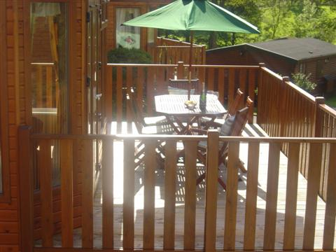 Lodge Patio - Fellside Lodge - Limefitt Park - Troutbeck