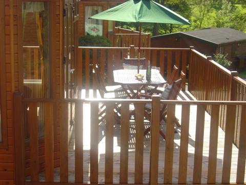 Lodge Patio - Fellside Lodge - Limefitt Park - Troutbeck