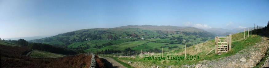 Panoramic of Troutbeck and Wansfell - Lake District