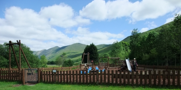The adventure playground at Limefitt Park - Lake District