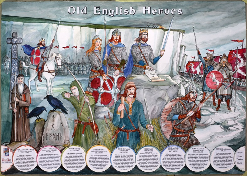 Old English Heroes. Individually signed by Mark Taylor