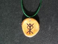 Cherry wood bindrune -Elk sedge/Eðel -Protection of home & Land