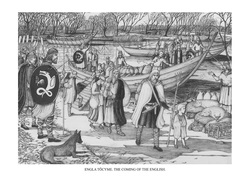After faring across the North Sea settlers arrive from 'Old Engle land'