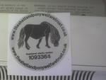 THIS IS OUR SILVER CAR STICKER WITH A BLACK PONY