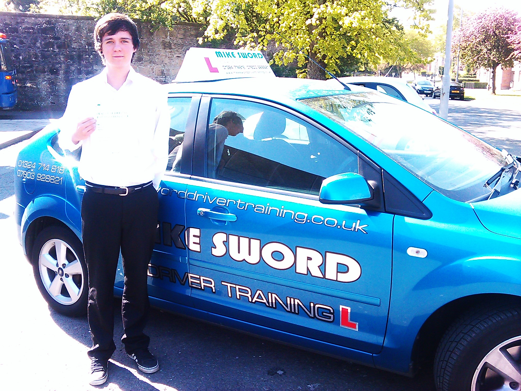 Tom Dallas passed with Mike Sword Driver Training