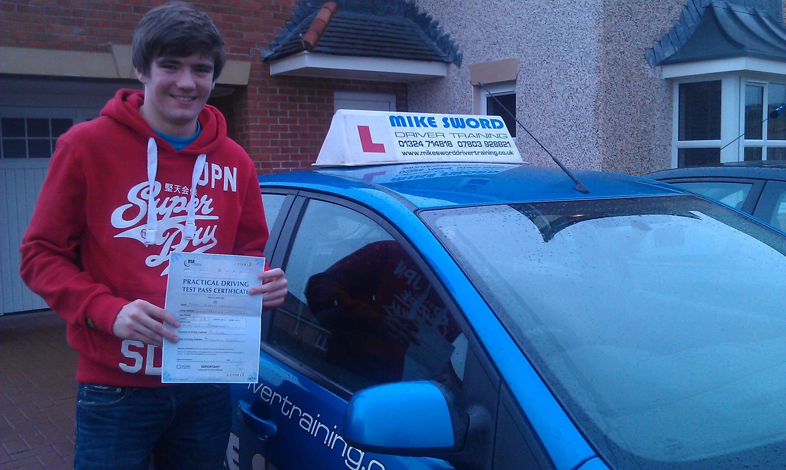 Ryan Irwin Mike Driving School Falkirk