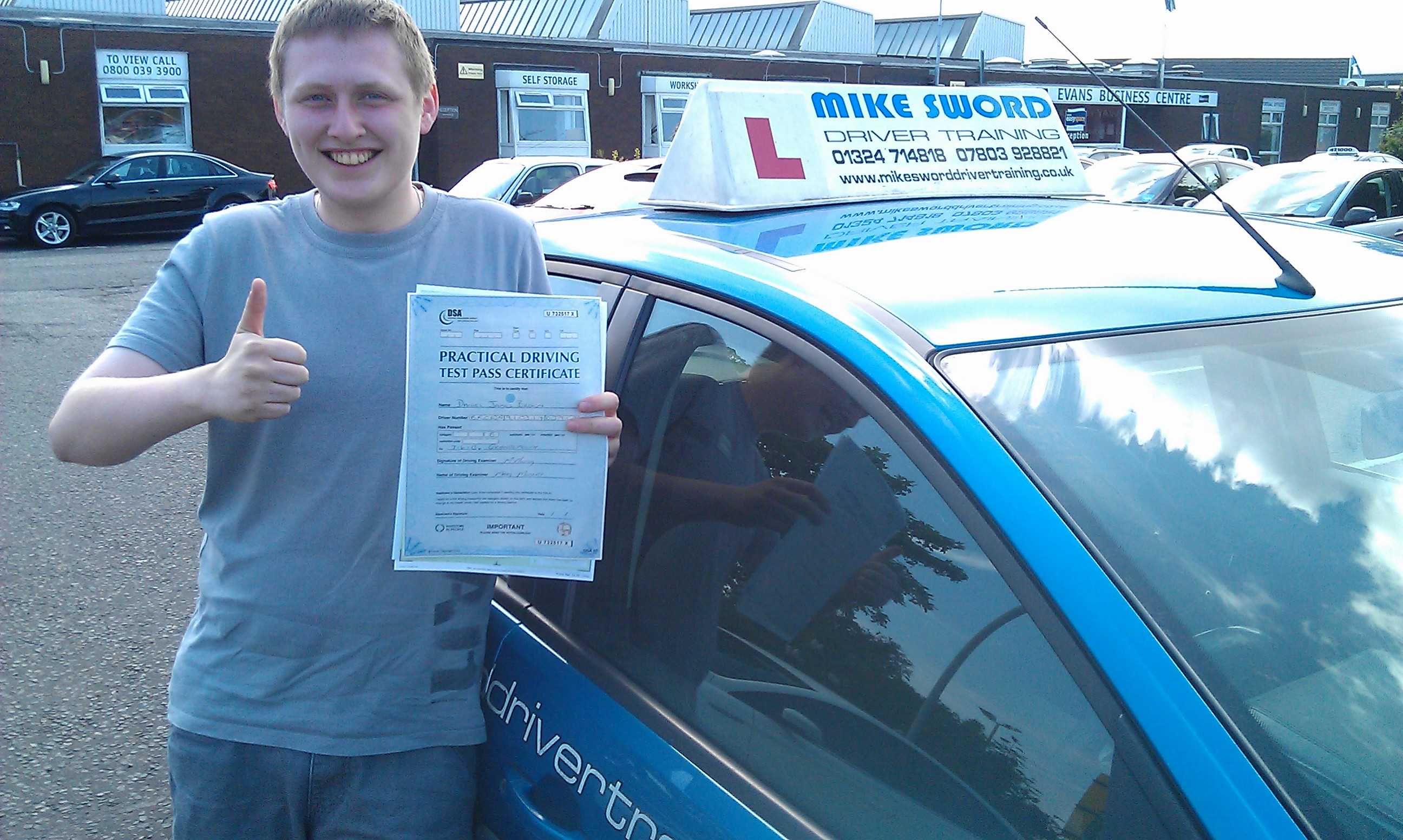 Mike Sword Driver Training Falkirk Instructor Daniel Brown