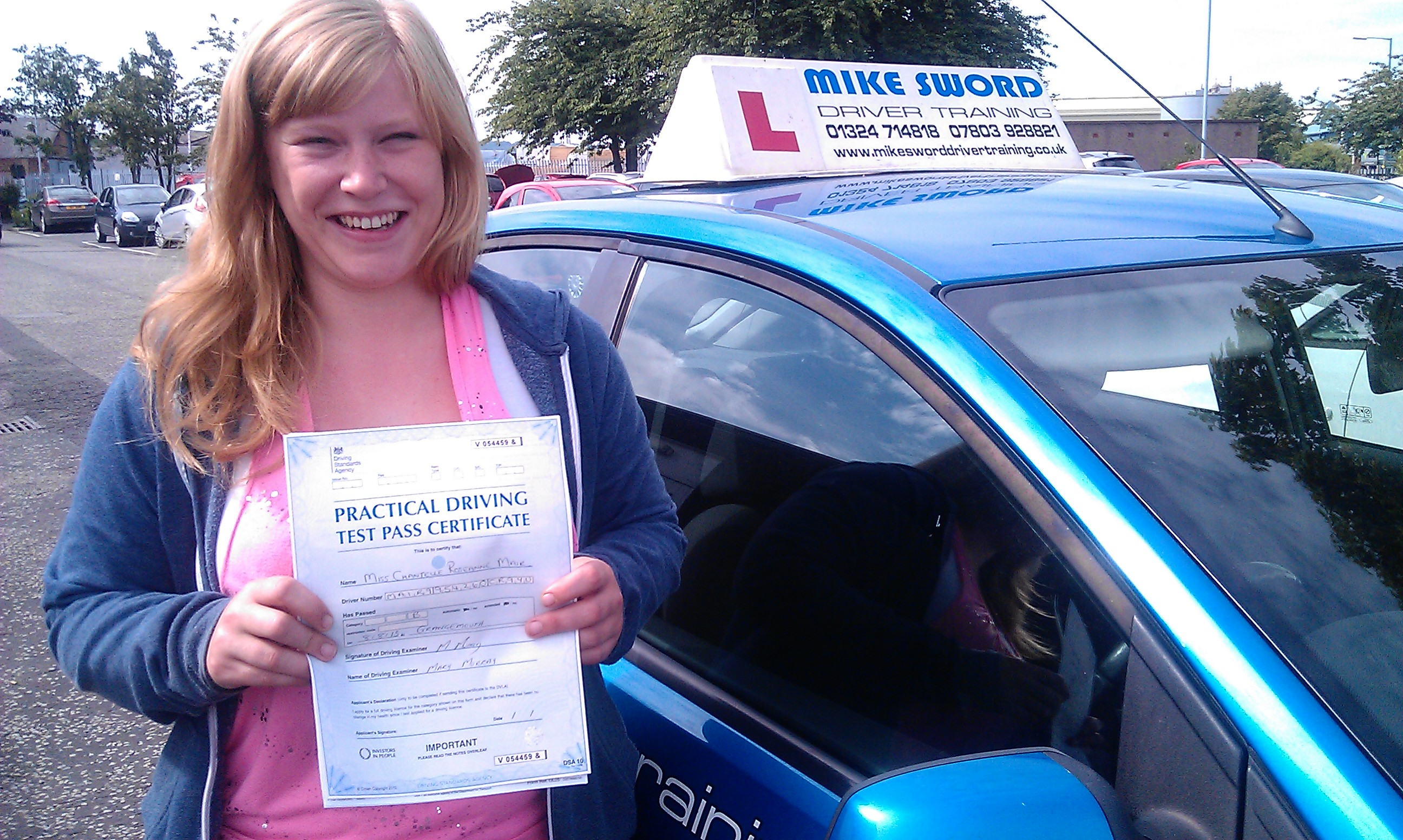 Chantelle Mair Mike Sword Driver Training Falkirk Driving