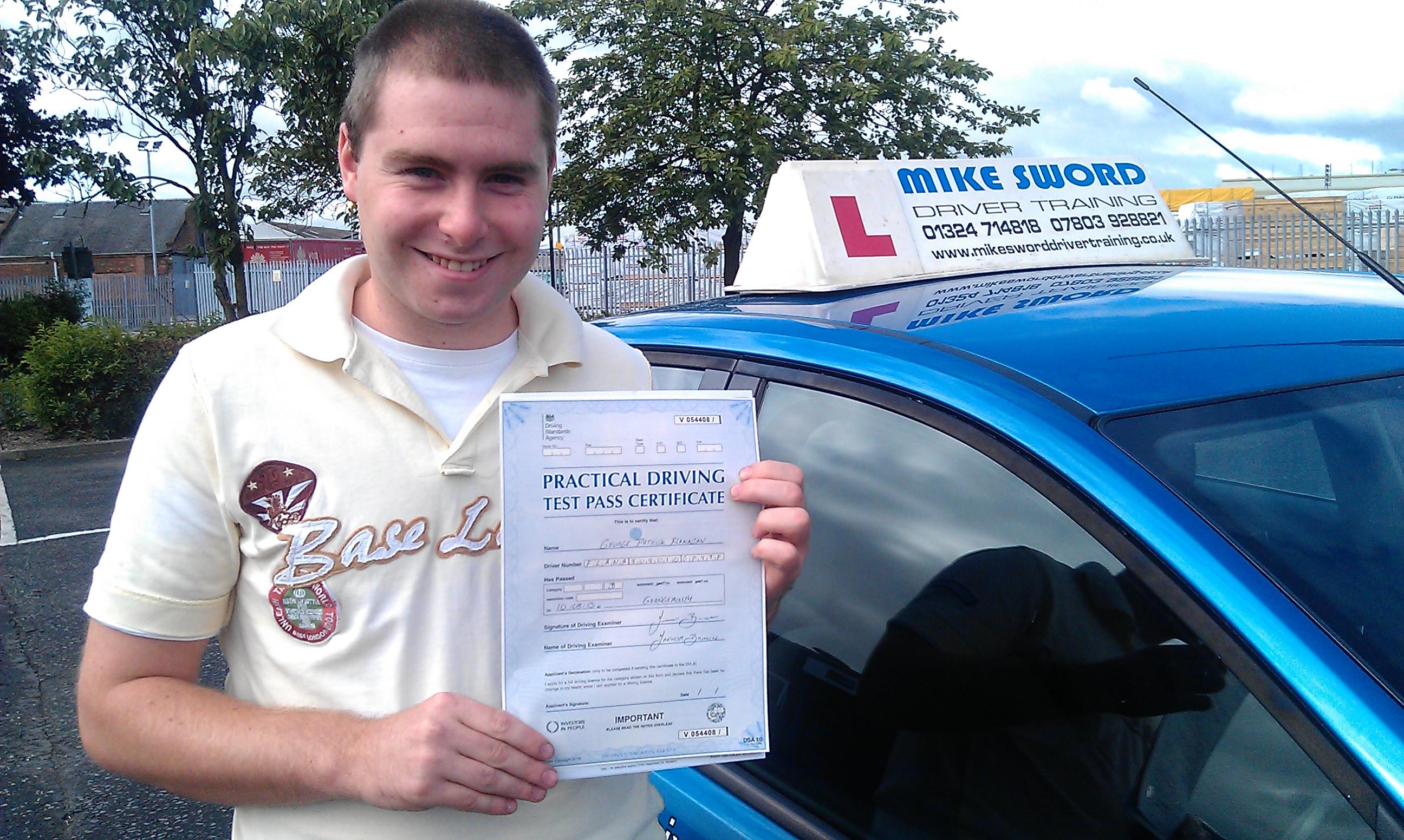 George Flanagan Mike Sword Falkirk Driving School Instructor