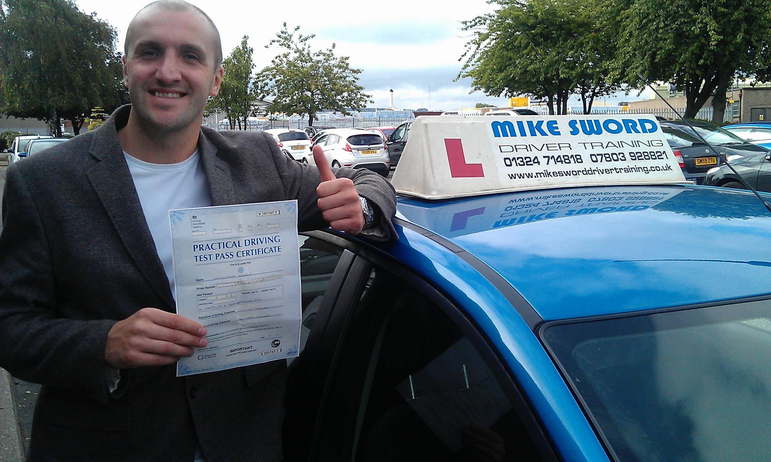 Cris Kallus Mike Sword Driver Training Falkirk Lessons