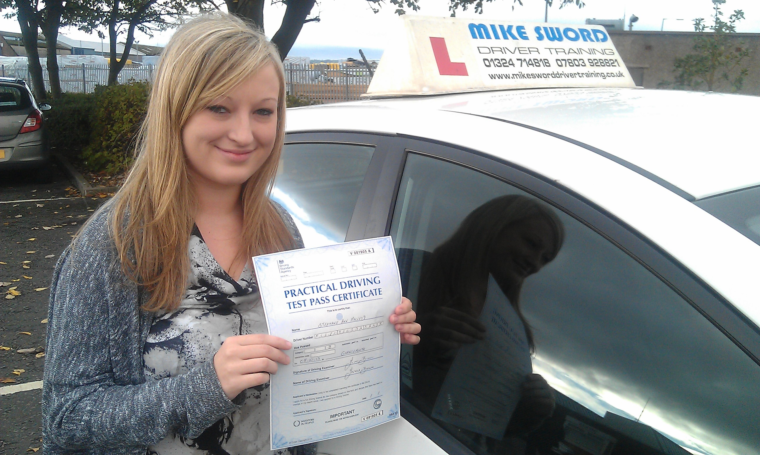 Stephanie MacLeod Mike Sword Driver Training Falkirk Instructor