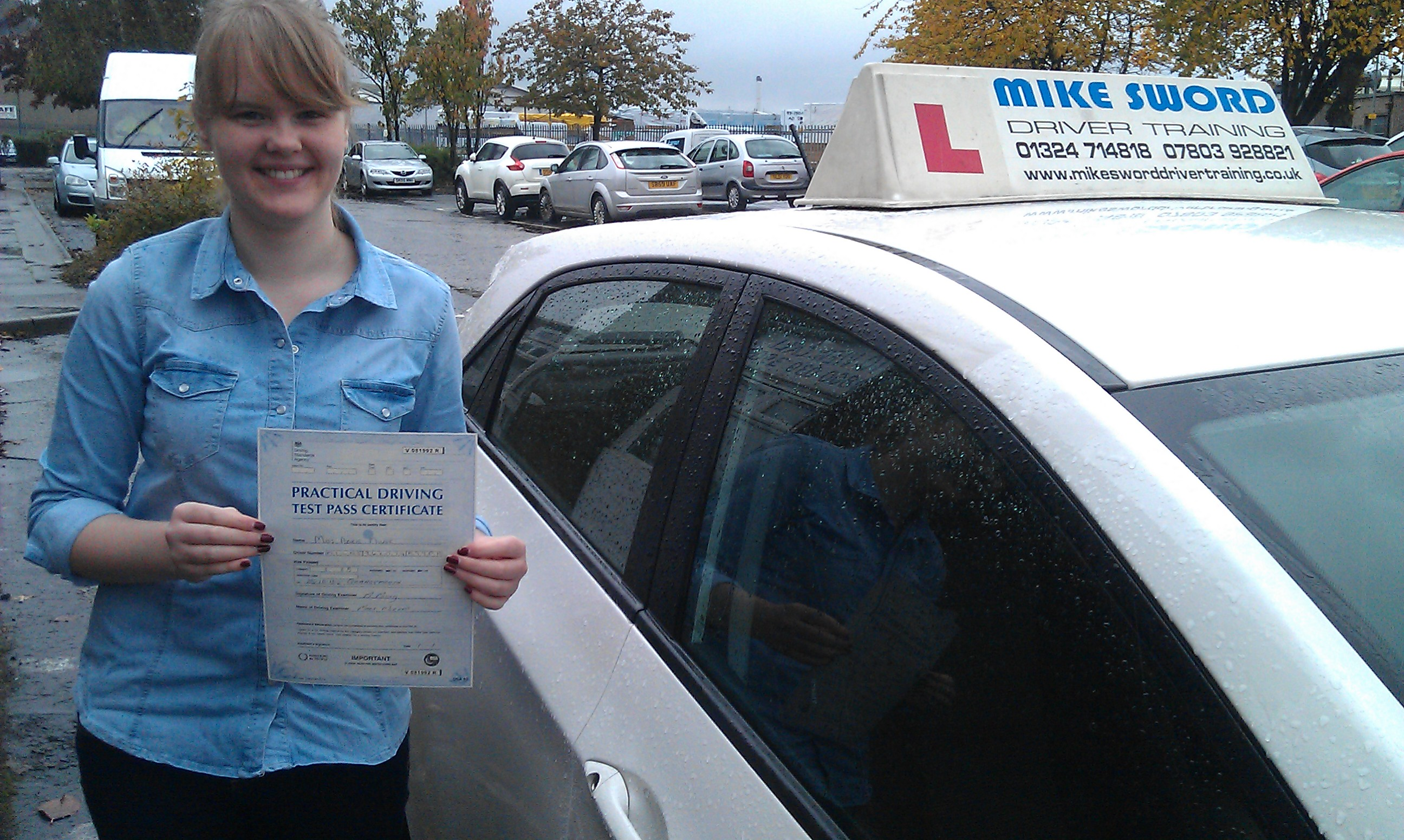 Abbie Milne Mike Sword Falkirk Driving Instructor