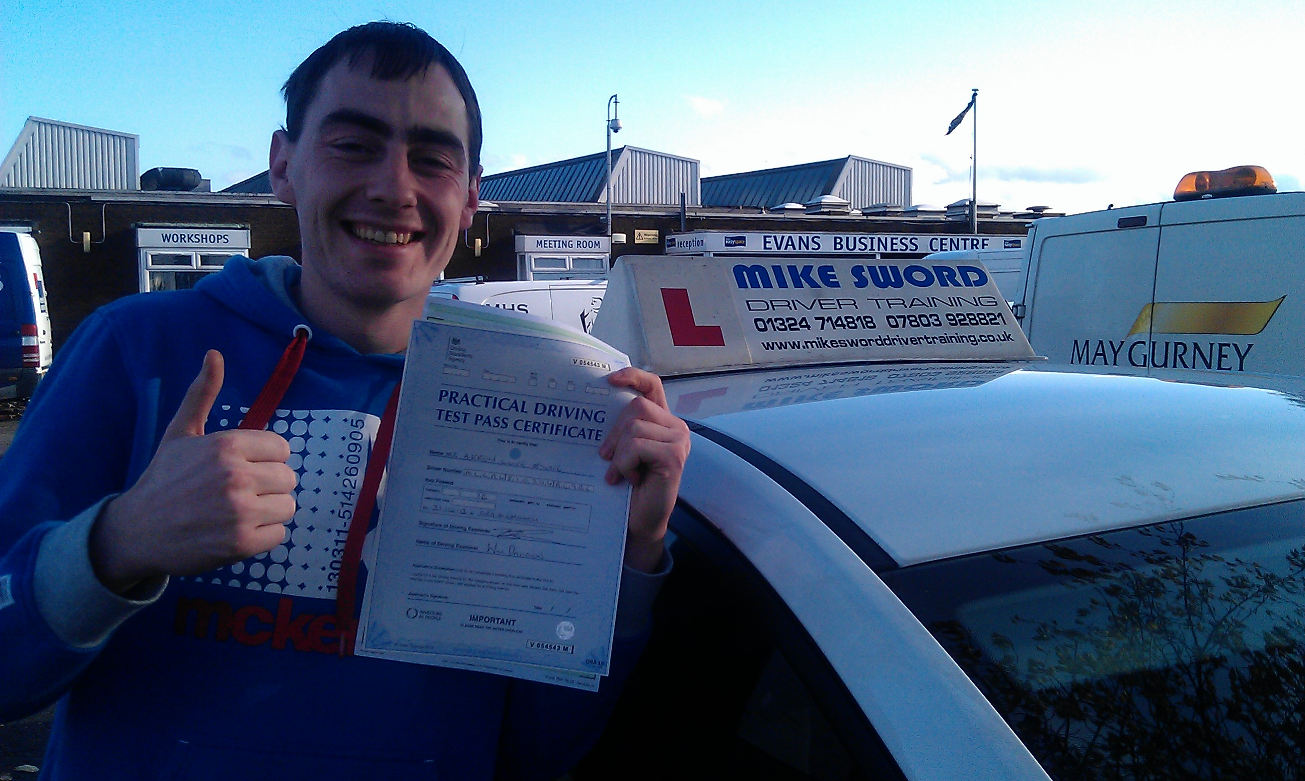 Andy McGale Mike Sword Falkirk Driving Instructor