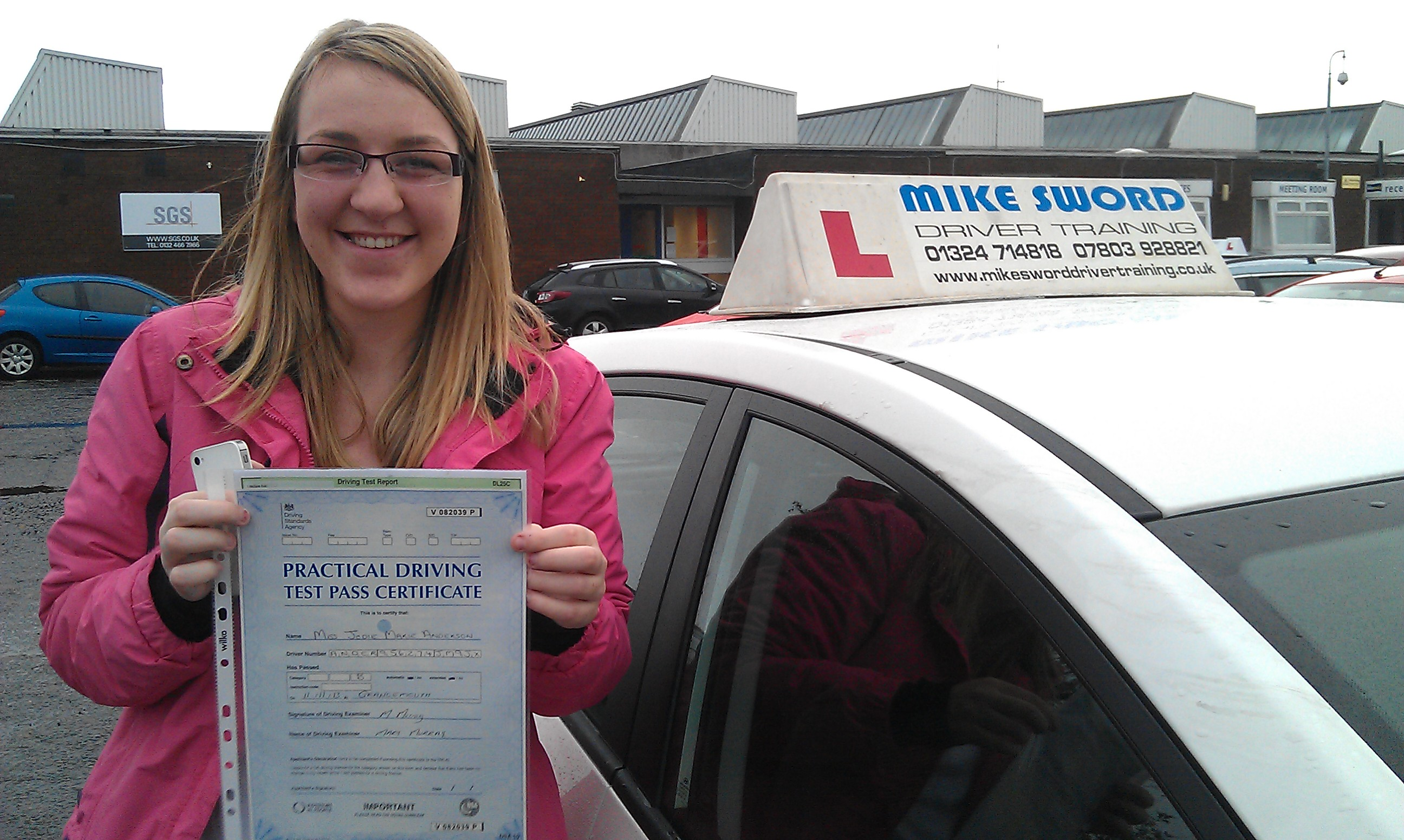 Jodie Anderson Mike Sword Driving Instructor Falkirk