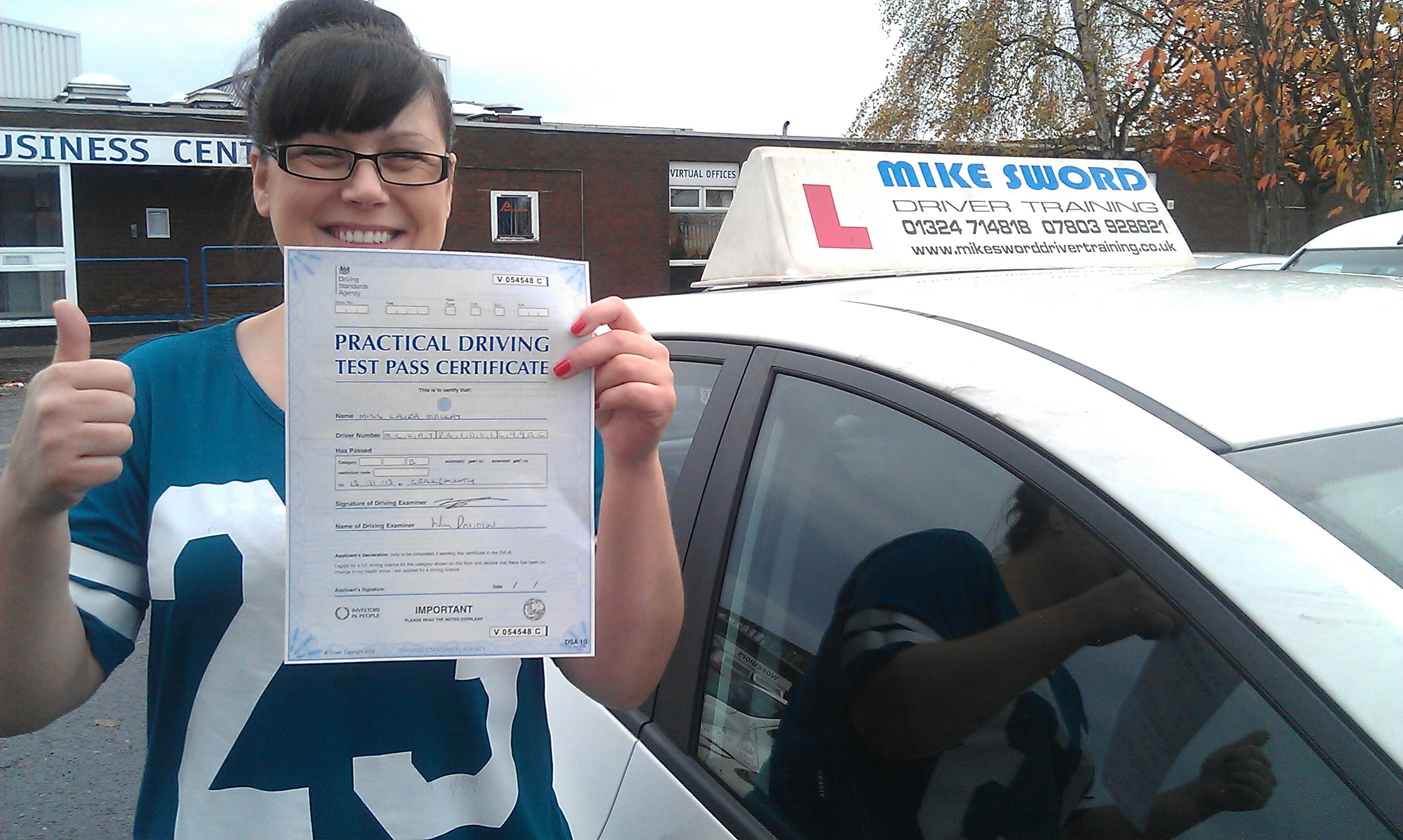 Laura Mackay Mike Sword Falkirk Driving Instructor