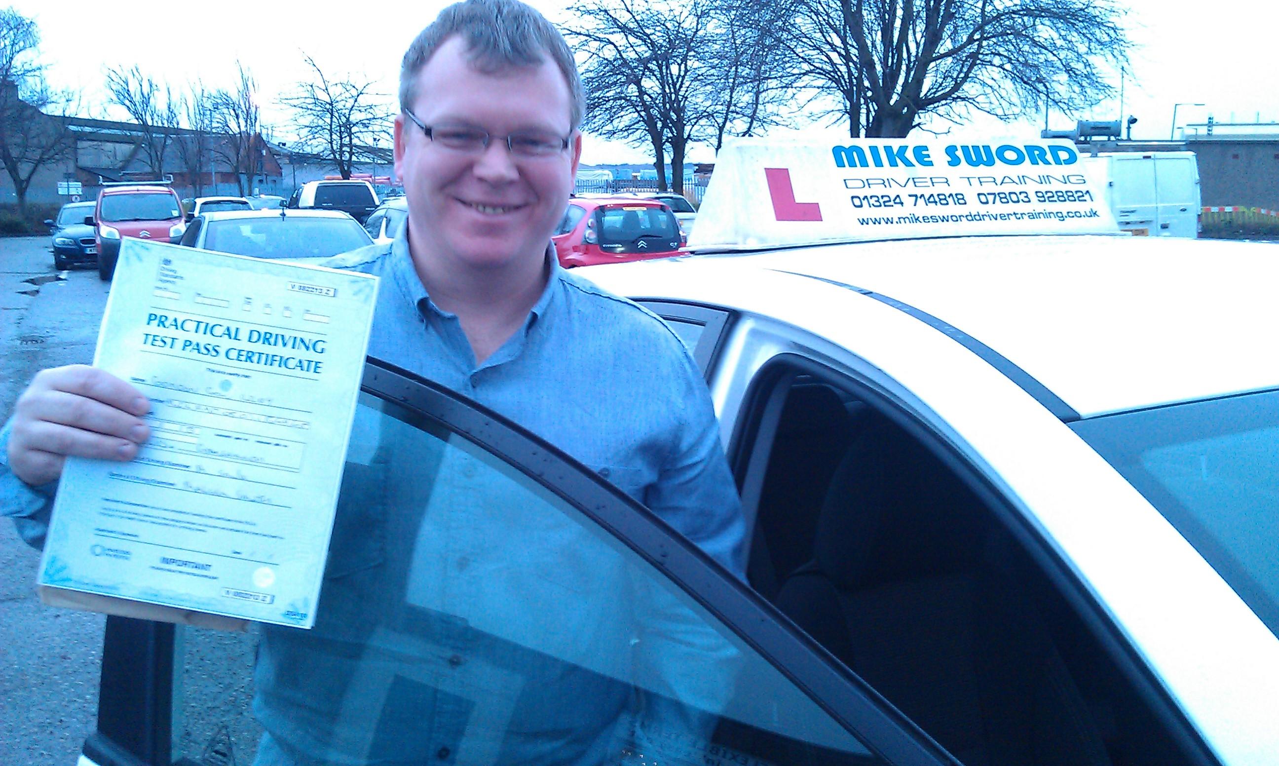 Gordon Riley Mike Sword Driving Instructor School Falkirk