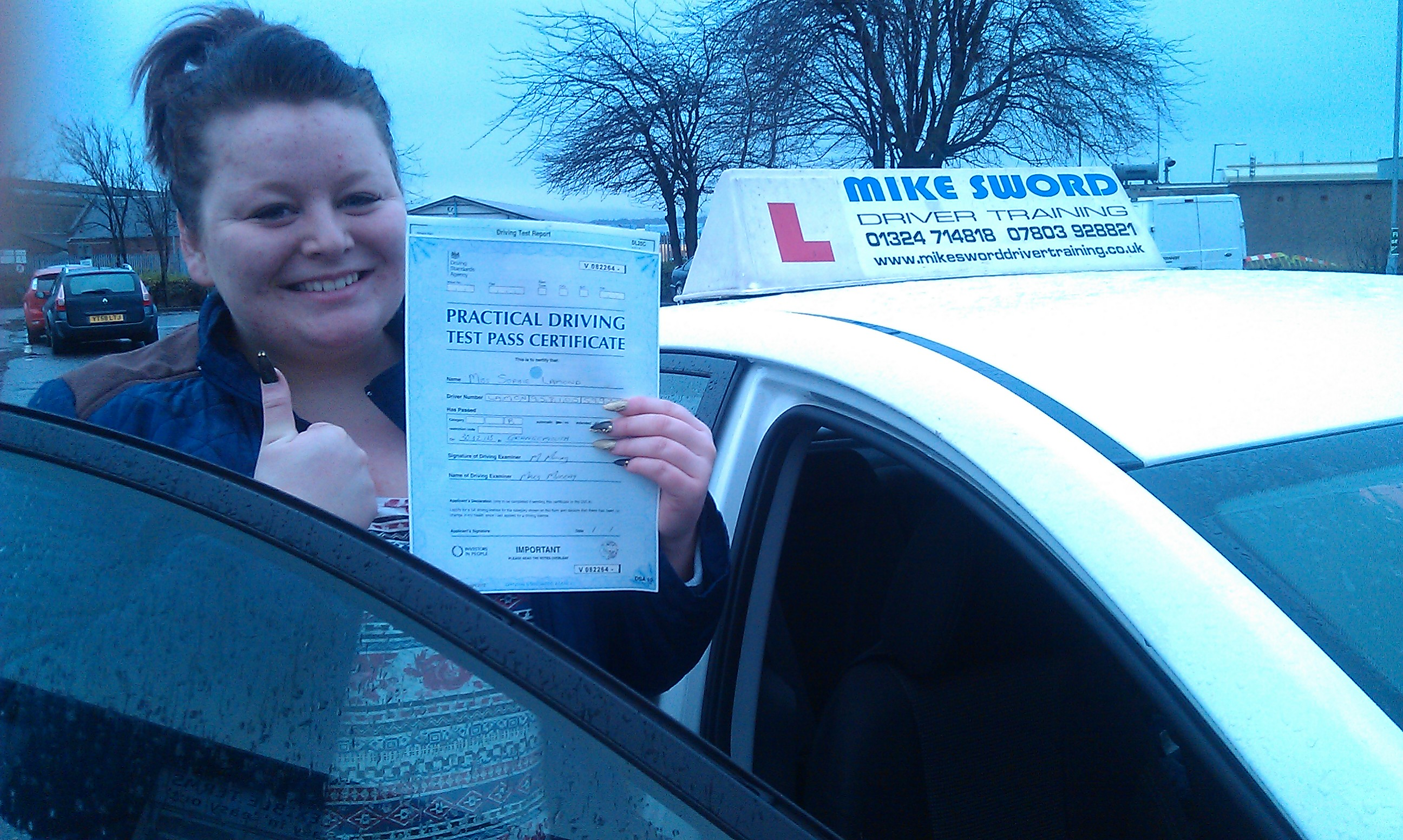 Sophie Lamond Mike Sword Falkirk Driver Training Instructor