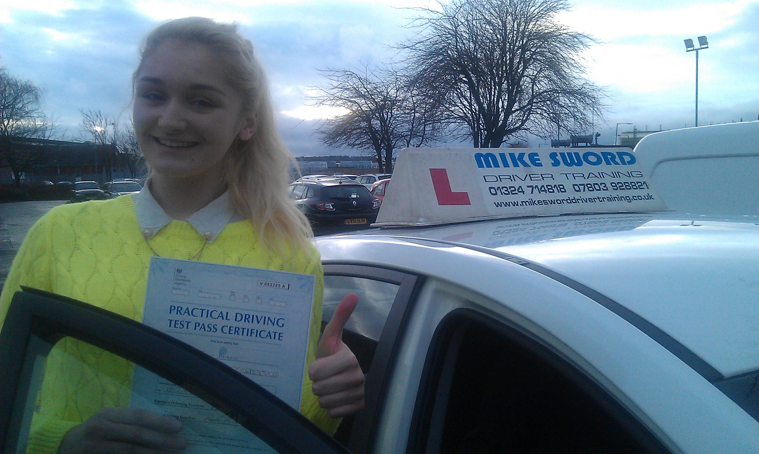 Jade Nixon Mike Sword Fakirk Driving Instructor Training