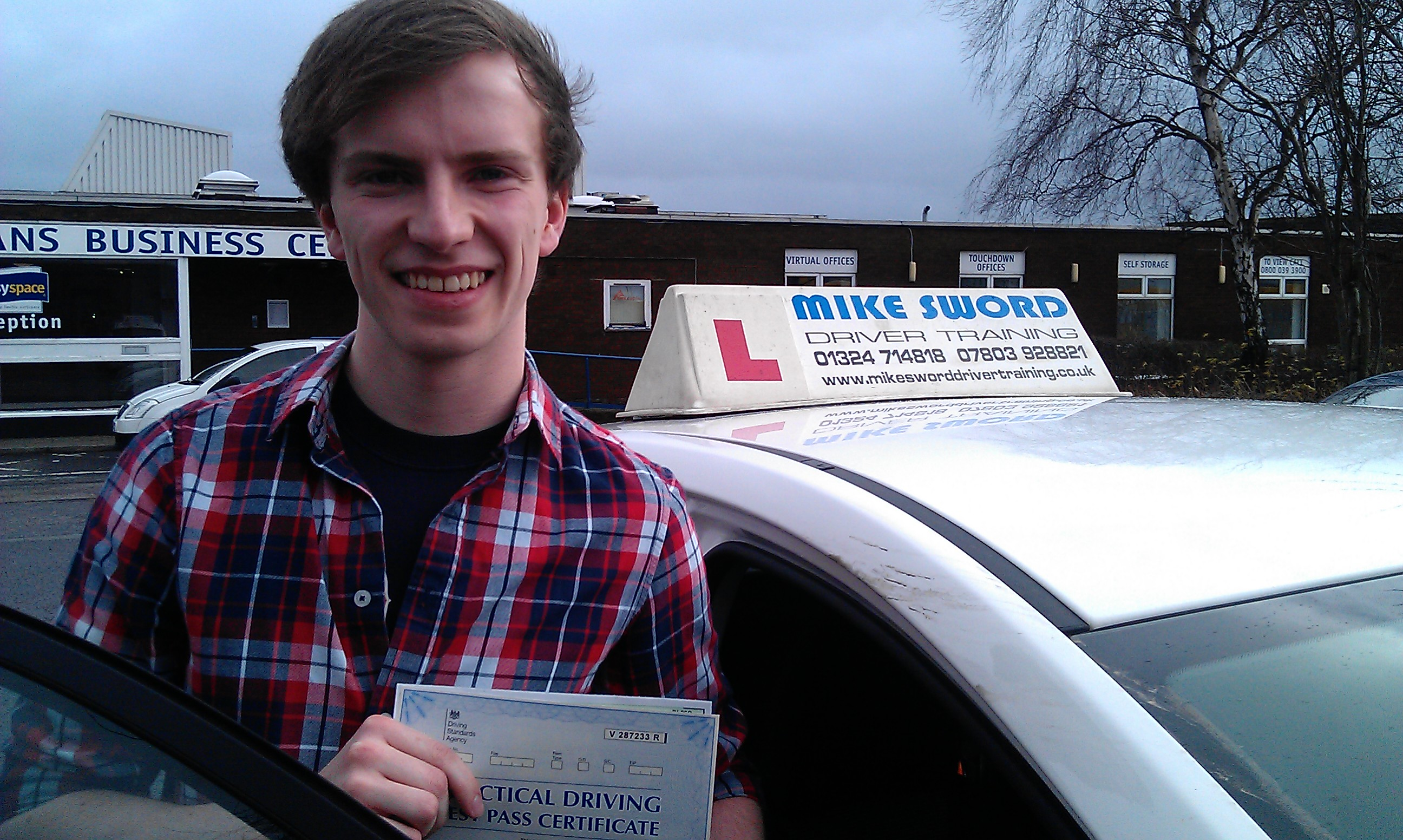 Conor Grace Mike Sword Falkirk Driving Instructor