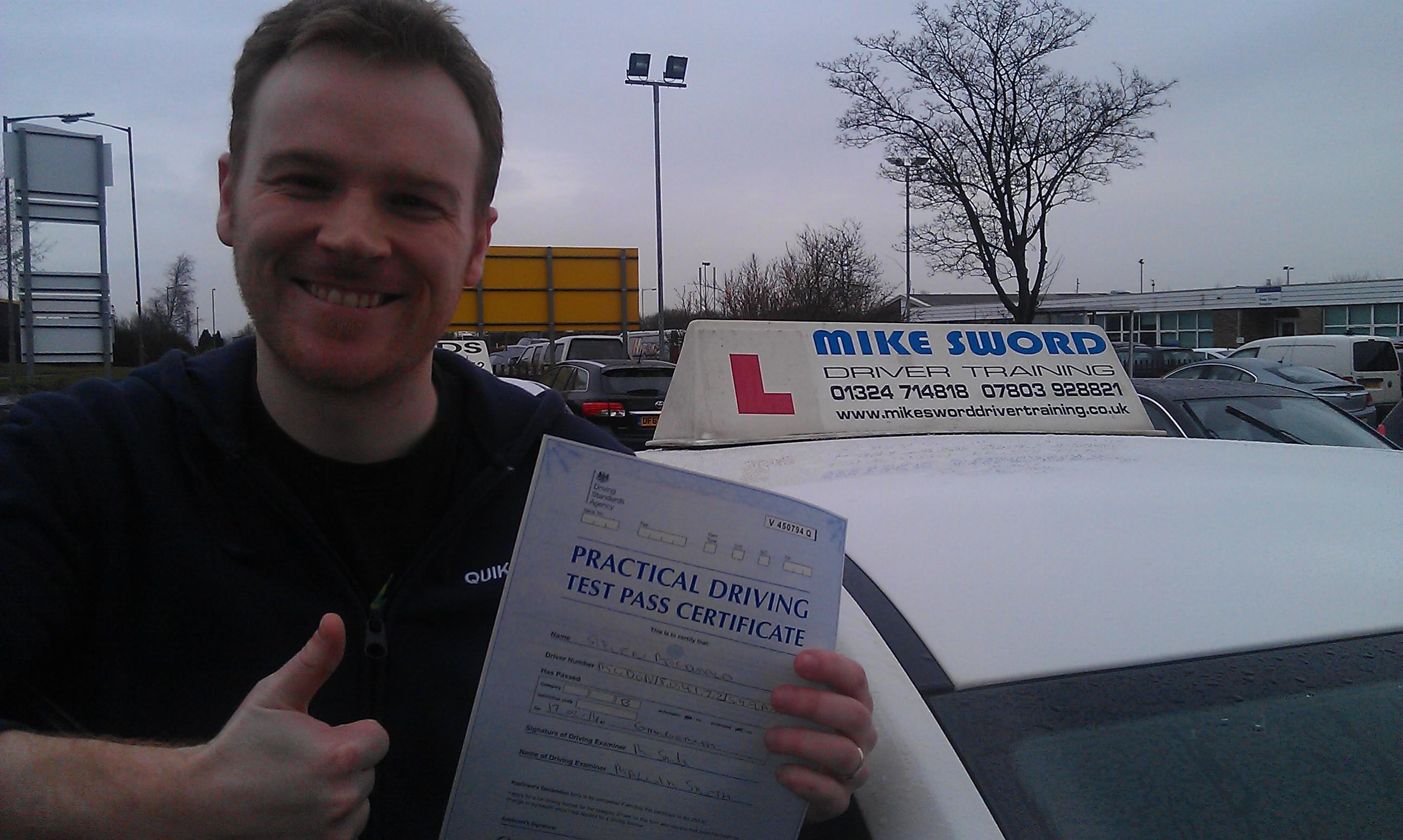 Steven MacDonald Mike Sword Driving Instructor Falkirk