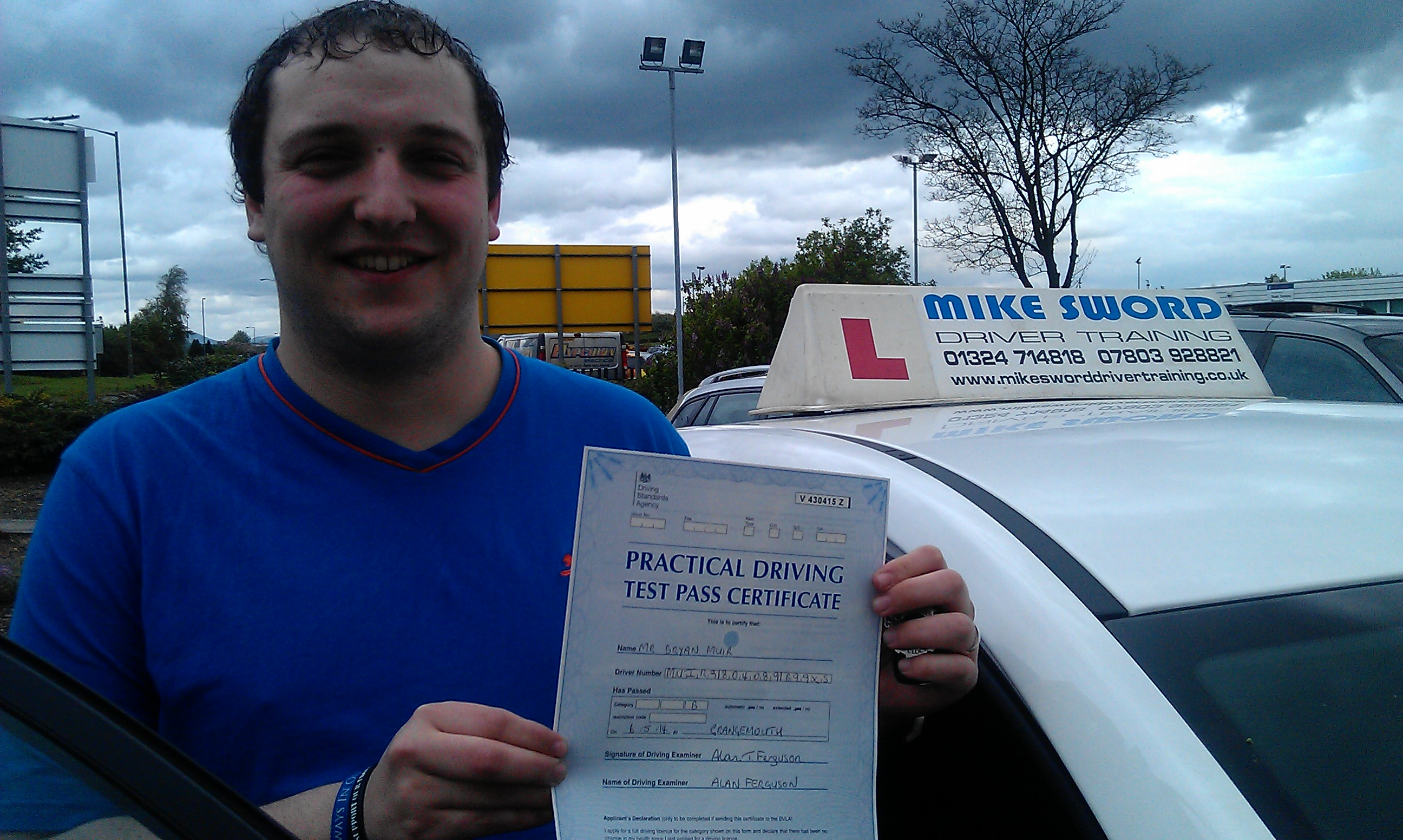 Bryan Muir Mike word Falkirk Driving Instructor Driver Training
