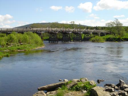 Old Wooden Brdge over the Spey
