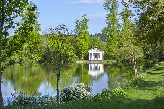 The Chamber's temple by the lake at St Paul's Walden Bury