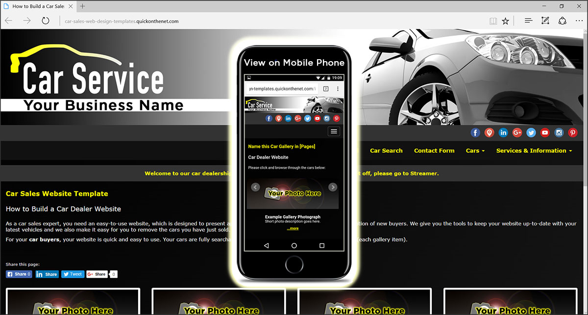 Car Sales Web Design Templates