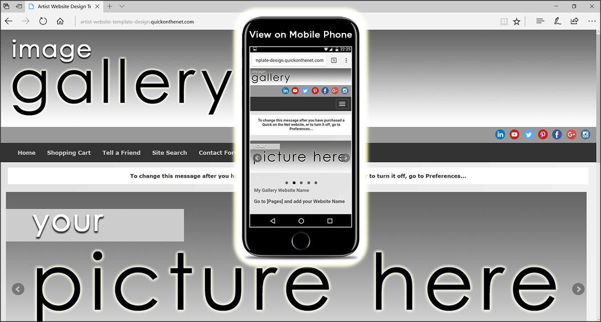 Artist Website Template Design