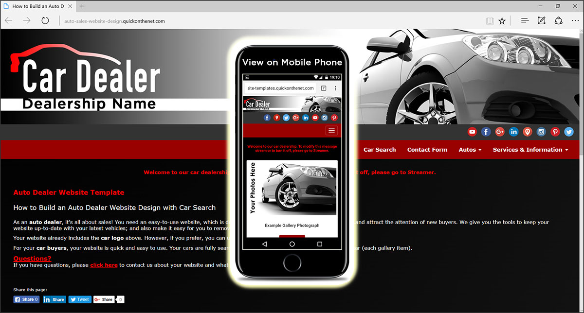 Auto Dealer Website Template