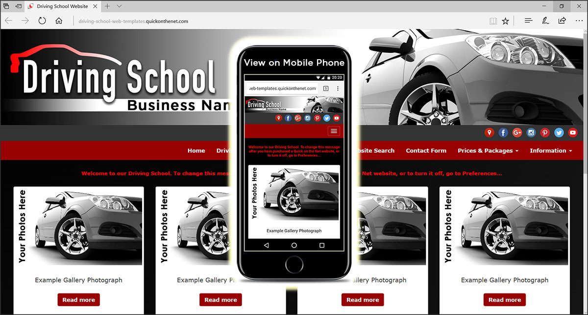 Driving School Web Templates