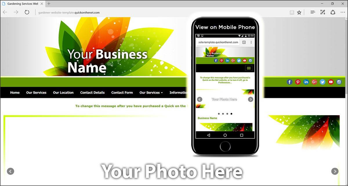 Gardening Website Templates Design