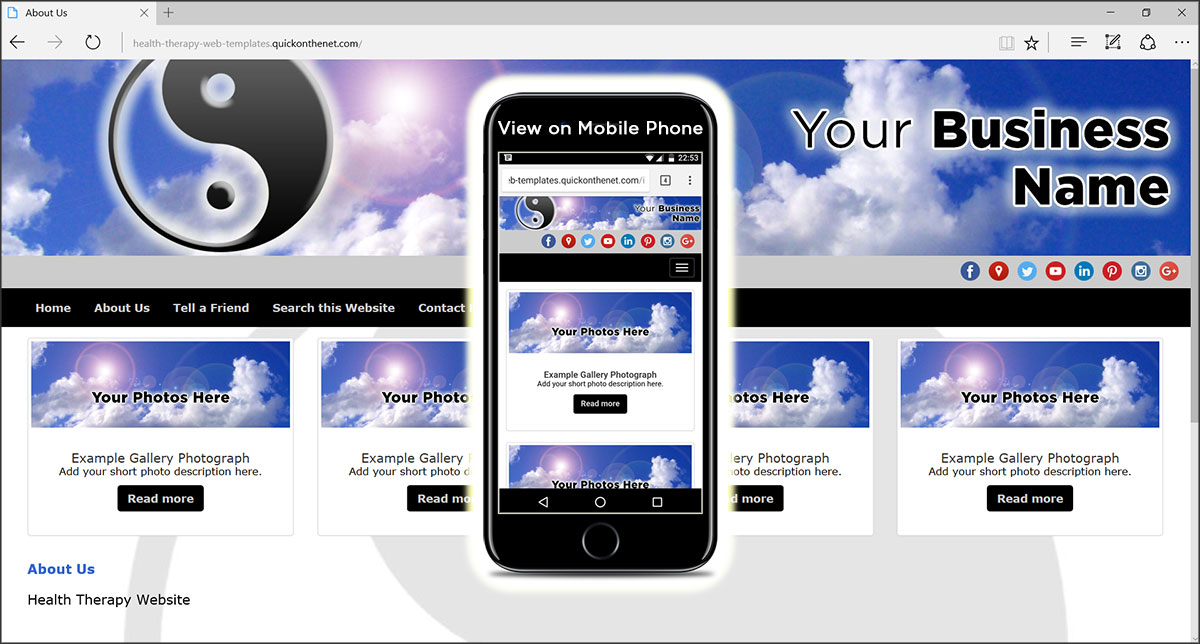 Health Therapy Web Templates