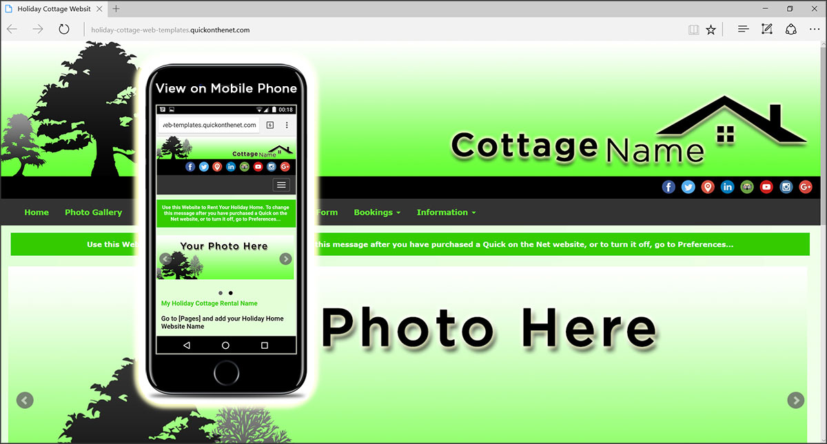 Holiday Cottage Web Templates