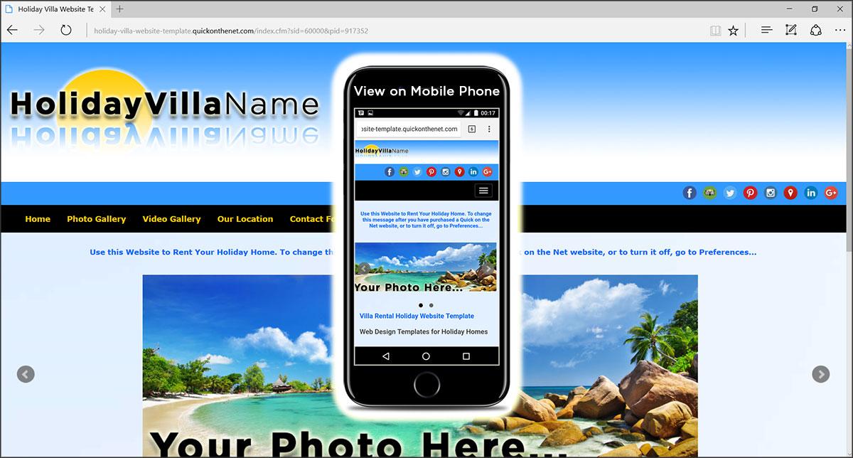 Holiday Villa Website Template