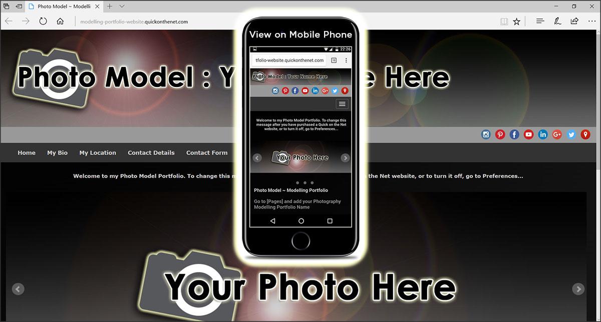 Photo Model Website Template