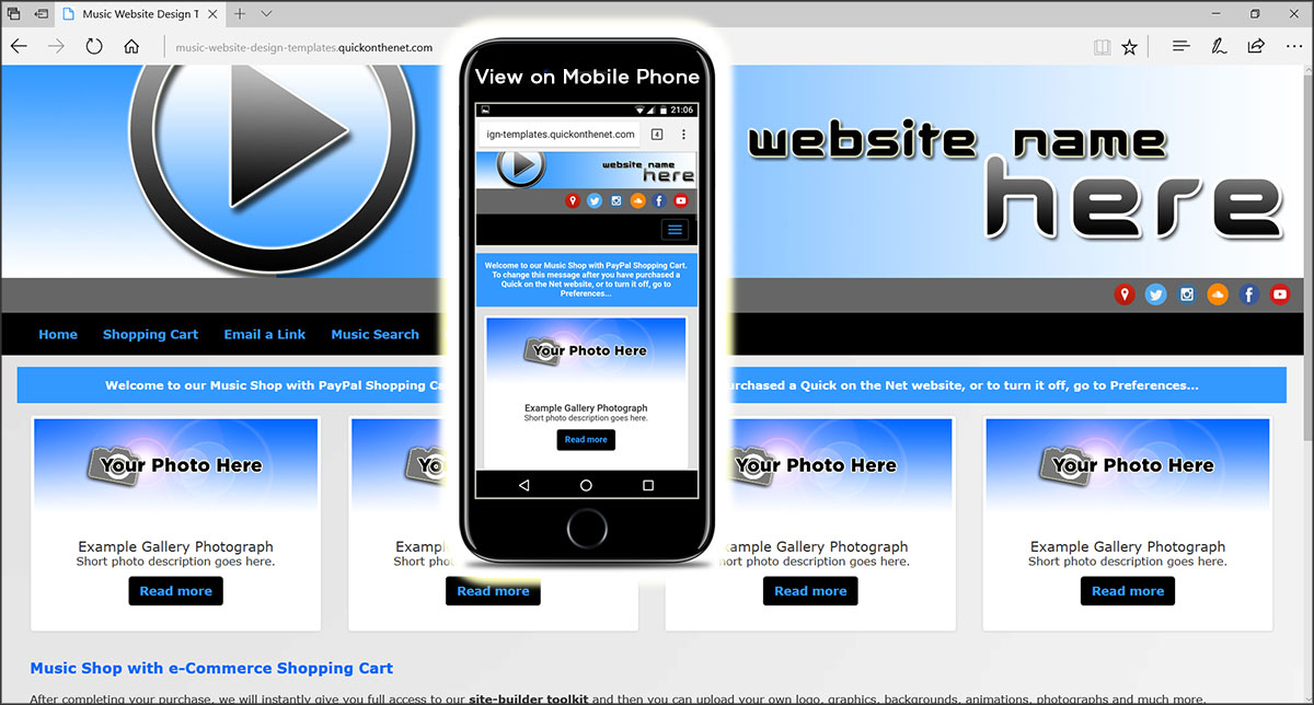 how to create a website for music download