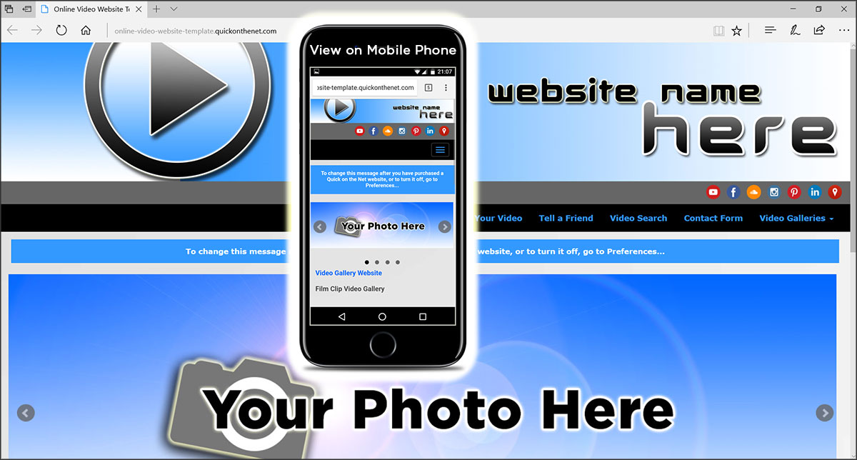 Online Video Website Template