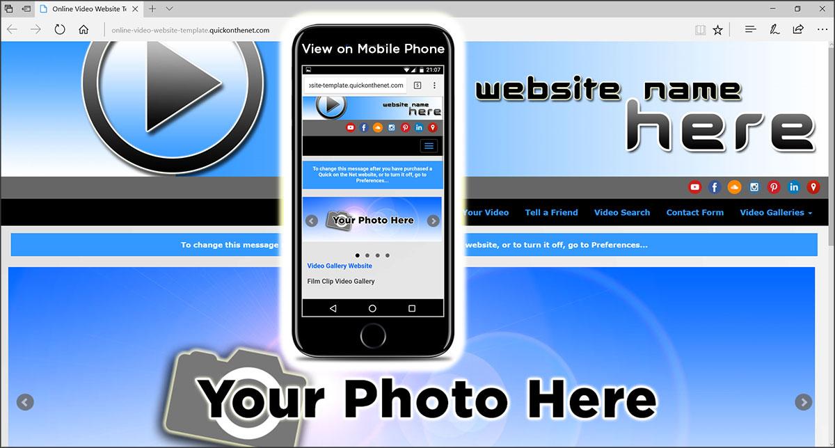 Online Video Website Template