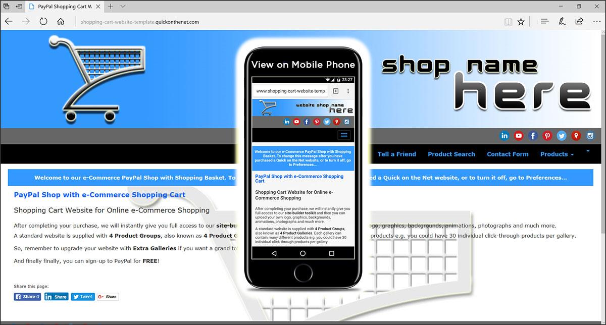 Shopping Cart Website Template