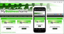 Eco Business Green Web Design Template