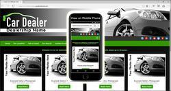Green Car Website Template