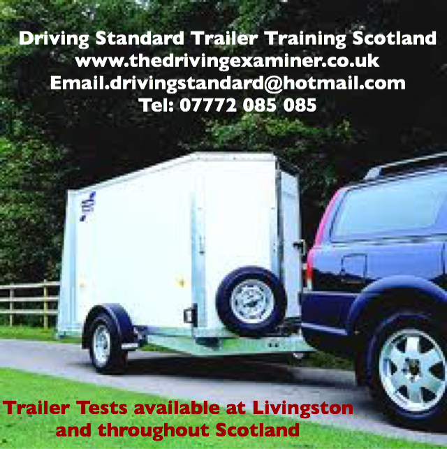 Car and trailer training and test