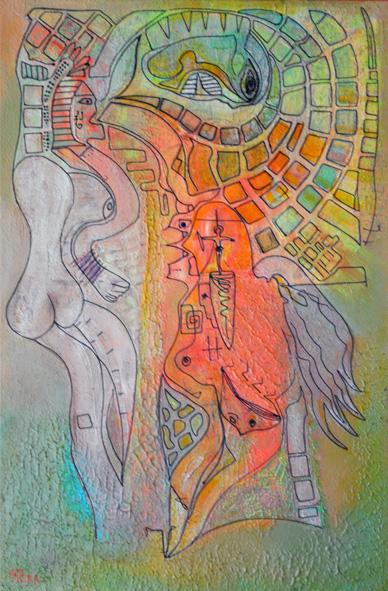 Domaine - Acrylic paint on canvas