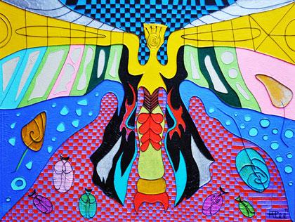 Lady Moth - Acrylic on canvas