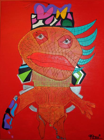 Mr Frust - Acrylic paint on canvas