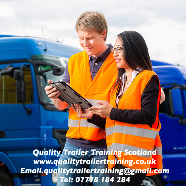 Car and trailer training and test Edinburgh Scotland